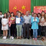 Công đoàn Cao su Ea H'Leo kết nạp 54 đoàn viên mới