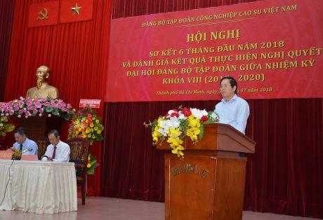 Đồng chí Phạm Viết Thanh - Ủy viên TW Đảng, Bí thư Đảng ủy Khối DNTW phát biểu tại Hội nghị