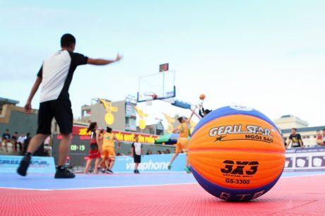 Sản phẩm bóng rổ 3x3 thương hiệu Geru star là bóng thi đấu chính thức tại giải vô địch quốc gia 2018