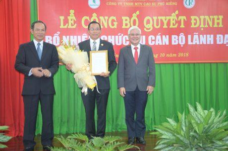 Ông Lê Thanh Tú giữ chức vụ Phó TGĐ VRG từ ngày 1/10/2018