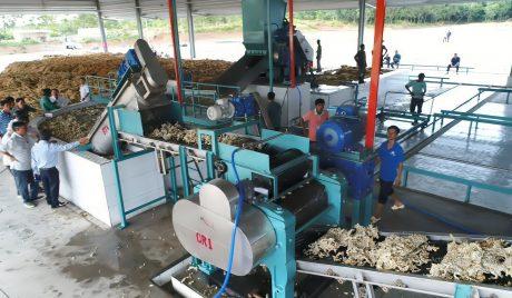 Dây chuyền Nhà máy chế biến mủ Cao su Đồng Phú – Kratie được đưa vào hoạt động đúng tiến độ. Ảnh: Đào Phong