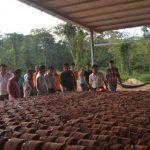 Cao su Dầu Tiếng – Việt Lào: Sản xuất chén hứng mủ bằng lò đốt gas