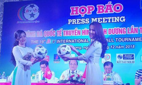 Giới thiệu Bóng Geru star, bóng thi đấu chính thức tại buổi họp báo của giải đấu