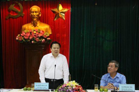 ông Nguyễn Hoàng Anh – Chủ tịch Ủy Ban Quản lý vốn Nhà nước tại Doanh nghiệp phát biểu tại buổi làm việc