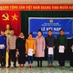 Công đoàn Cao su Sơn La kết nạp mới 30 đoàn viên