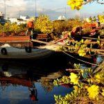 Thương hồ hoa Tết bến Bình Đông