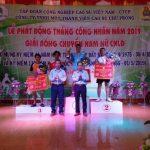 Cao su Chư Prông bế mạc giải bóng chuyền