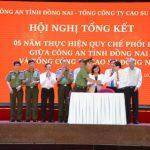 Cao su Đồng Nai ký kết quy chế phối hợp với Công an Tỉnh