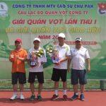 Cao su Chư Păh tổ chức giải quần vợt lần thứ nhất 2019