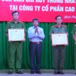 Cao su Đồng Phú tổng kết hoạt động của 3 Ban Chỉ huy thống nhất