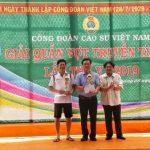 Sôi nổi giải quần vợt truyền thống Công đoàn Cao su Việt Nam năm 2019