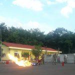 Cao su Việt - Lào diễn tập phòng cháy chữa cháy