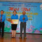 Bùi Thị Duyên giành giải nhất thi chủ tịch CĐ giỏi Cao su Chư Păh