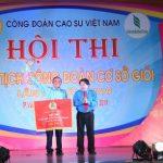 Cao su Bình Long giải nhất thi chủ tịch Công đoàn giỏi