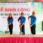 Hội Liên hiệp Thanh niên VRG hỗ trợ hội viên xây nhà nhân ái