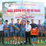 Cao su Chư Mom Ray vô địch giải bóng đá mini khối thi đua Tây Nguyên