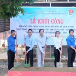 Đoàn Thành niên Cao su Phú Riềng khởi công xây dựng công trình thanh niên