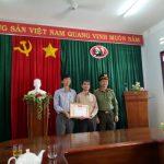Cao su Sa Thầy nhận Giấy khen của Giám đốc Công an tỉnh Kon Tum