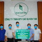 Cao su Kon Tum: Hỗ trợ Cao su Hà Giang 50 triệu phòng chống dịch Covid -19