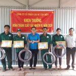Cao su Tân Biên: Khen thưởng 4 công nhân hoàn thành kế hoạch năm