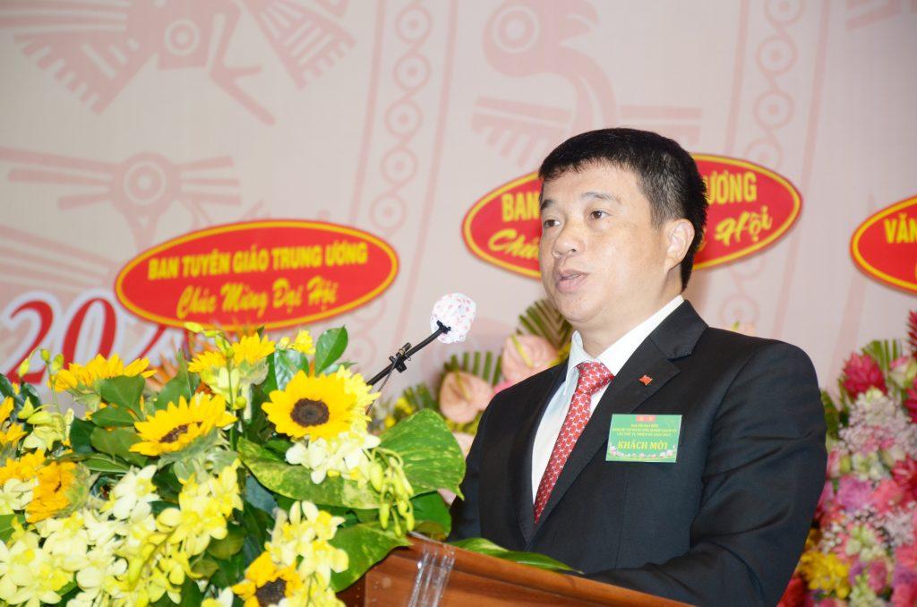 Đồng chí Y Thanh Hà Niê Kđăm – UV dự khuyết BCH TW Đảng, Bí thư Đảng ủy Khối Doanh nghiệp Trung ương phát biểu chỉ đạo đại hội