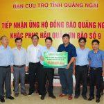 VRG hỗ trợ 2 tỉnh Quảng Ngãi và Quảng Nam 600 triệu đồng