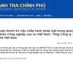 Tập đoàn Công nghiệp Cao su Việt Nam phản hồi thông tin báo chí về kết luận của Thanh tra Chính phủ