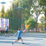 Đoàn thanh niên Cao su Chư Sê thi đấu quần vợt