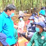 Lãnh đạo Công đoàn Cao su VN thăm công nhân Cao su Phú Thịnh