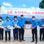Công đoàn Cao su Chư Prông: Bàn giao 2 sân bóng chuyền cho nông trường vùng biên