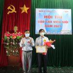 Thí sinh Ngô Quốc Việt giành giải nhất Hội thi Báo cáo viên giỏi Cao su Sa Thầy