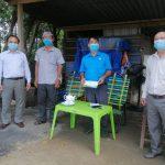 Cao su Tây Ninh thăm và hỗ trợ các chốt phòng chống dịch