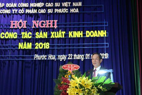 Ông Trần Ngọc Thuận  - Bí thư Đảng ủy, Chủ tịch HĐQT VRG phát biểu chỉ đạo tại Hội nghị
