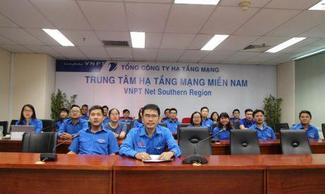 Buổi lễ được trực tuyến tại điểm cầu số 3 tại Trung tâm Hạ tầng Mạng miền Nam TP.HCM