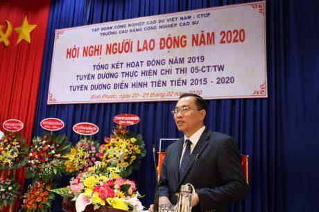 Ông Lê Thanh Tú - Phó TGĐ VRG phát biểu tại hội nghị