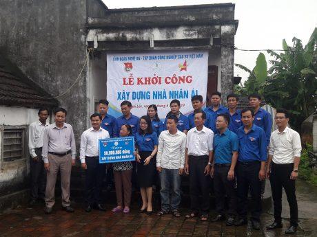 ĐTN Hỗ trợ 50 triệu đồng để xâ dựng nhà nhân ái tại Nghi Lộc