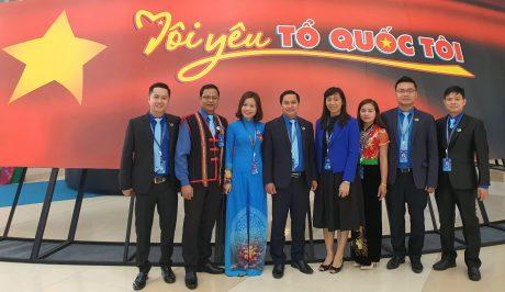 Đoàn đại biểu Hội LHTN VN VRG tham dự đại hội