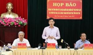 Buổi họp báo thông tin vụ việc lấn chiếm đất tại xã Ia Chim