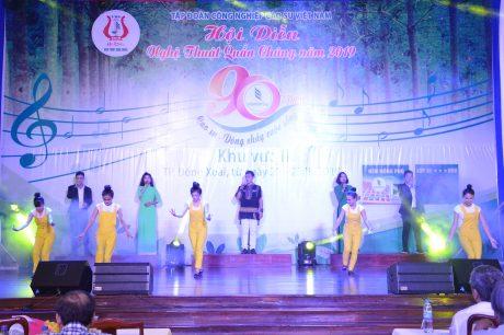 Tiết mục Cao su Việt Nam ngời sáng vinh quang của Cao su Chư Pah Kampong Thom