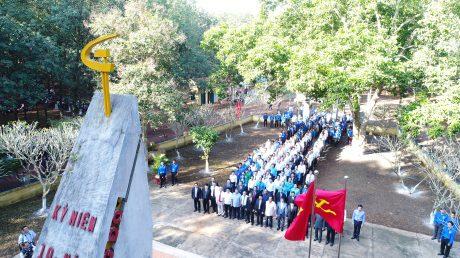 Di tích tượng đài Phú Riềng Đỏ. Ảnh: Ng.Cường