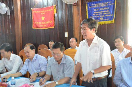 Ông Phùng Thế Minh - TGĐ Cao su Bà Rịa Kampong Thom phát biểu tại hội nghị