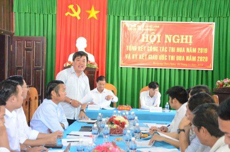 Ông Lê Văn Thắng – Phó Ban Tuyên giáo Thi đua VRG phát biểu tại hội nghị