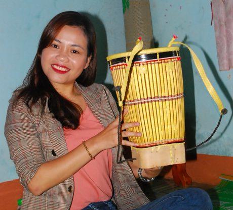 Chiếc gùi – một sản phẩm truyền thống của dân làng Breng làm ra.