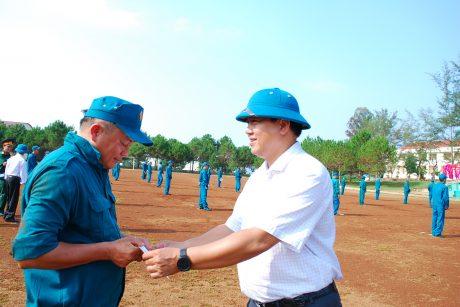 ông Phạm Thanh Hòa - Phó Chỉ huy trưởng Ban CHQS, Trưởng Ban TTBVQS VRG