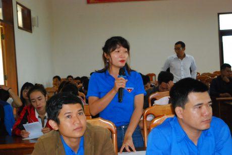 Bạn Văn Thị Thúy An ở xã K'dang đặt câu hỏi về chế độ làm CN mới