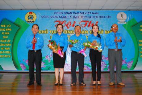 3 thí sinh xuất sắc đại diện cho công ty tham dự hội thi Chủ tịch CĐ cơ sở giỏi do CĐ CSVN tổ chức
