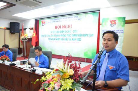 Đ/c Thái Bảo Tri – UV BCH TW Đoàn, Bí thư ĐTN VRG phát biểu tại hội nghị