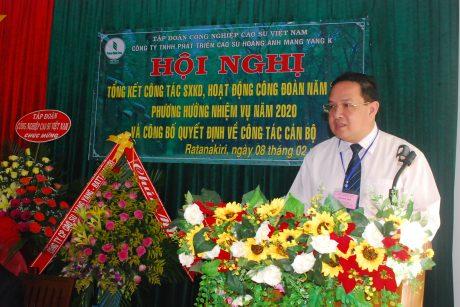 Ông Trương Minh Trung - PHó TGĐ VRG phát biểu chỉ đạo