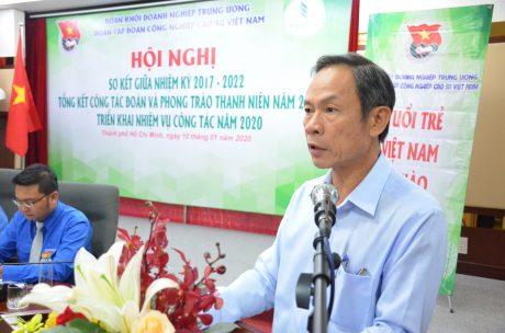Đ/c Trần Ngọc Thuận – Bí thư Đảng ủy, Chủ tịch HĐQT VRG phát biểu tại hội nghị