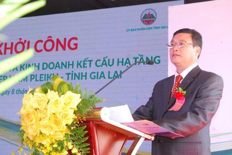 Ông Phạm Duy Muôn - TGĐ Cao su Chư Sê phát biểu đáp từ.